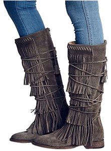Free People Suede Gray Boots