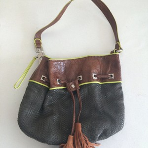 Francesco Biasia Mixed Media Hobo Bag