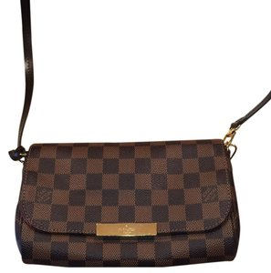 Louis Vuitton Damier Canvas Shoulder Cross Body Bag