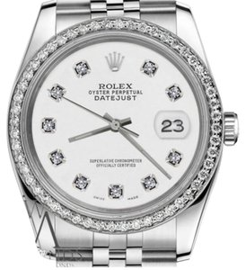 Rolex Women`s Rolex 26mm Datejust White Color Dial with Diamond Accent Watch