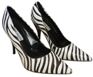 Steve Madden Zebra & Animal print, Black White Pumps