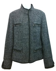 Elie Tahari Black Tweed Jacket. Blazer
