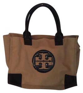 Tory Burch Tote in Beige And Black