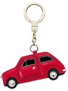 Kate Spade NWT KATE SPADE THINGS WE LOVE VROOM CAR KEYCHAIN KEY FOB 4 BAG RED