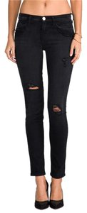 Current/Elliott Ankle Overdye Skinny Jeans-Distressed