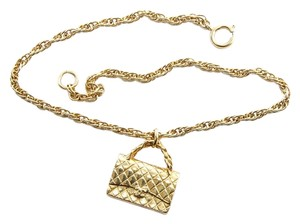 Chanel Chanel Limited Edition CC Monogram Gold Necklace 2.55 Flap