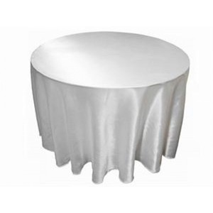 White Satin Tablecloths