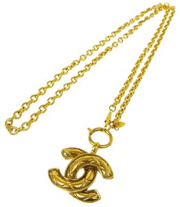 Chanel Chanel Limited Edition CC Monogram Gold Necklace Made In France