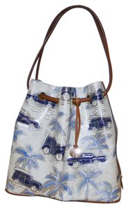 Brahmin Trina Woody's Palm Tree's Drawstring Leather Shoulder Bag