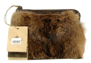 Patricia Nash Designs Fur Leather Wristlet in Brown