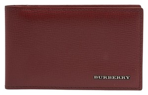 Burberry Burberry Military Red Saffiano Leather ID Card Holder (99603)