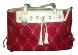 Dooney & Bourke Large Fabric Tote in Red