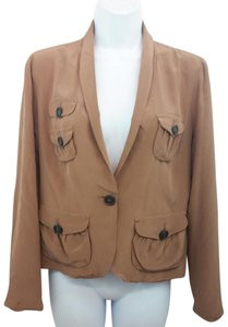 J.Crew Brown Silk Blazer