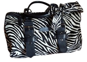 Longchamp Kate Moss Rock 'n' Travel Zebra Pony Skin Satchel in Black & White