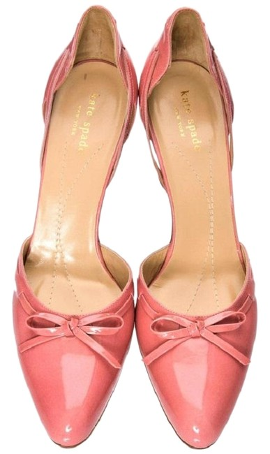 Item - Peach Patent Leather D'orsay Made In Italy Pumps Size US 9.5 Regular (M, B)