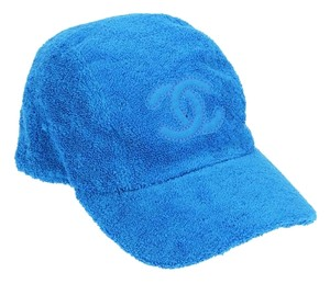Chanel Blue Terry Cloth CC Baseball Cap