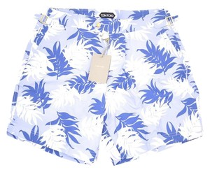 Tom Ford Tom Ford BLUE & White Floral Swimming Trucks Shorts Bathing 48 EURo