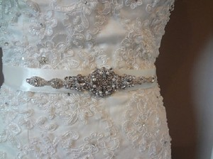 Nora Wedding Bridal Art Deco Vintage Inspired Brooch Crystal Belt