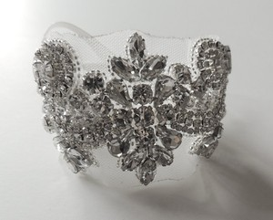 Lillian Wedding Bridal Beaded Bracelet Cuff