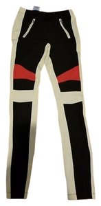BCBGMAXAZRIA black/white/red Leggings