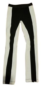 BCBGMAXAZRIA black/white Leggings