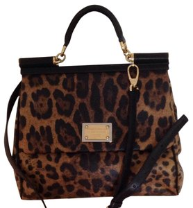 Dolce&Gabbana Tote in leopard black and brown