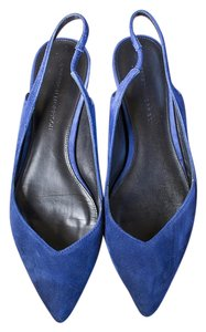 Belle by Sigerson Morrison Suede Pointed Toe blue Flats