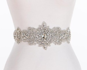 Eden Ab Elle Swarovski Crystal Beaded Authentic Designer Bridal Sash