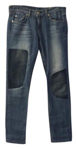 Rag & Bone Patchwork Relaxed Fit Straight Leg Jeans