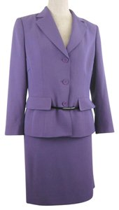 Anne Klein Anne Klein Skirt Suit Size 10 Purple with belt