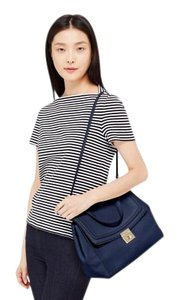 Kate Spade Leather Satcheal Business Satchel in Navy