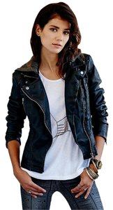 Free People Faux Leather Moto Leather Jacket