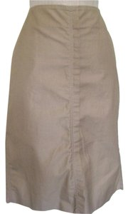 Saint Laurent Pencil Tan Skirt Brown