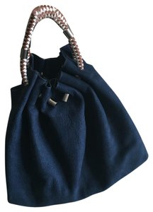 Zara Satchel in Navy Blue