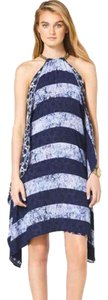 Michael Kors short dress Blue Multi Halter on Tradesy