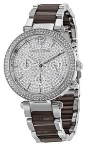 Michael Kors Womens Michael Kors Parker Chronograph Glitz Pave Watch