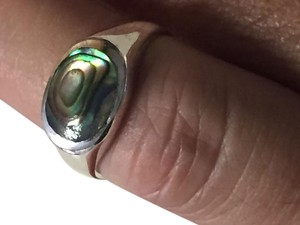 Other Sterling Silver Drusy multi-color stone