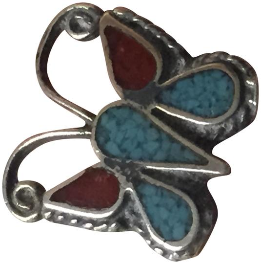 Preload https://img-static.tradesy.com/item/19344004/turquoise-southwestern-vintage-and-sterling-silver-ring-0-5-540-540.jpg