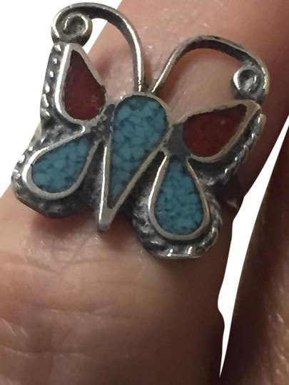 Other Southwestern Vintage Turquoise and Sterling Silver ring Image 1