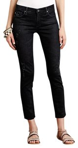 AG Adriano Goldschmied Distressed Skinny Jeans-Distressed
