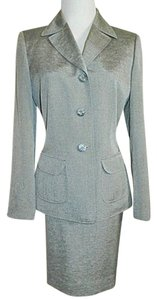 f900e21ced Evan Picone Silver Gray Two Piece Blazer Jacket Skirt Suit Size 6 (S ...