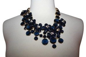 J.Crew J.CREW MIDNIGHT FLORAL NECKLACE NAVY