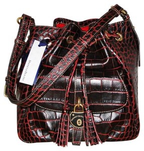 Dooney & Bourke Drawstring Leather Shoulder Bag