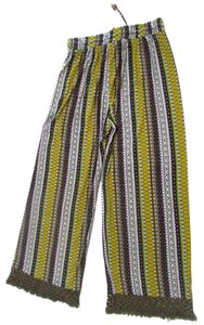 Other Hippie Boho Bohemian Comfy Relaxed Pants Yellow Multicolor