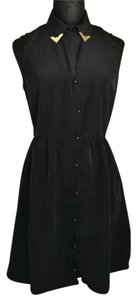 One Clothing short dress Black Gold Backtoschool on Tradesy