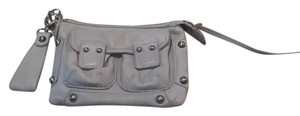 Linea Pelle Wristlet in Blue Gray