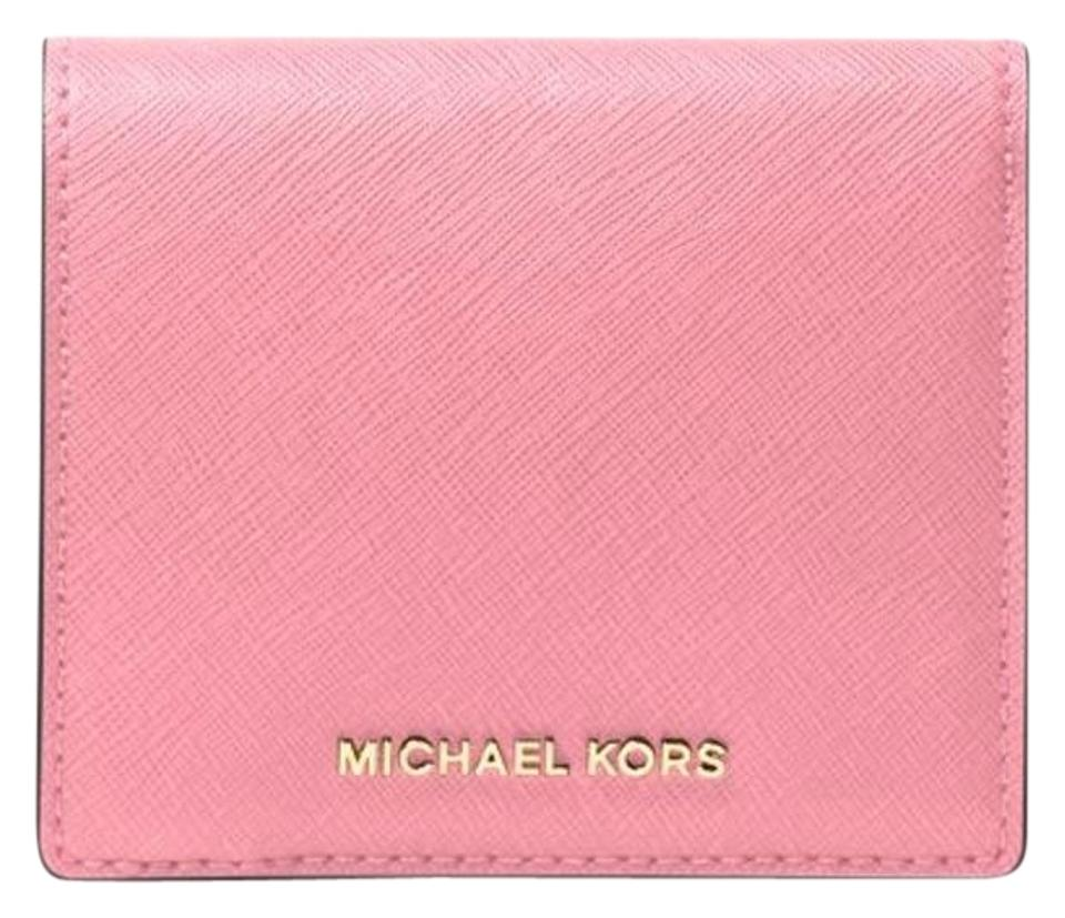 3733f7935c451a Michael Kors Michael Kors Jet Set Travel Card Holder coin wallet Image 0 ...