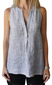 Joie Chambray Linen Top Blue