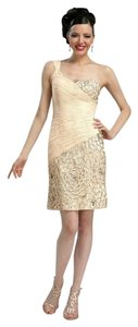 Sue Wong One Shoulder Embroidered Dress
