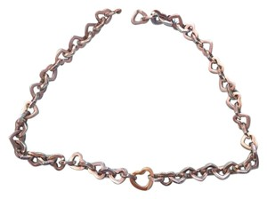 Tiffany & Co. Tiffany and Co. 18K Gold and Sterling Silver Heart Link Necklace